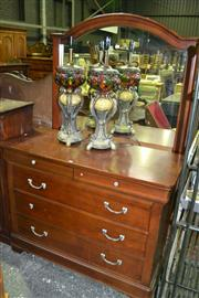 Sale 8093 - Lot 1566 - Drexel Mirrored Back Dressing Chest of 6 Drawers (058288, 058289)