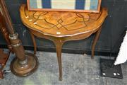Sale 8117 - Lot 906 - Inlayed Demi-lune table