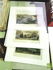 Sale 8548 - Lot 2095 - Collection of (7) C19th Engravings - Edinburgh; Constantinople; London; Brussels; Dublin; Berlin; Peking mount size: 30.5 x 38cm