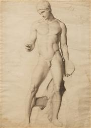Sale 8642A - Lot 5097 - Artist Unknown - Discobolus 62.5 x 48.5cm