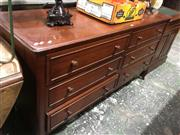 Sale 8740 - Lot 1558 - Timber Chest of Six Drawers