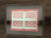 Sale 8782A - Lot 99 - Silk Embroided Panel in a box frame, frame size 42.5 x 51cm