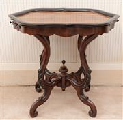 Sale 8881H - Lot 41 - A Dutch style walnut and ebonised occasional table raised on finial legs with two opposing slides. Height 68cm x Width 77cm x Depth...