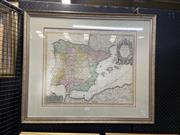 Sale 8914 - Lot 2039 - Antique Hand-Coloured Map of Spain and Portugal