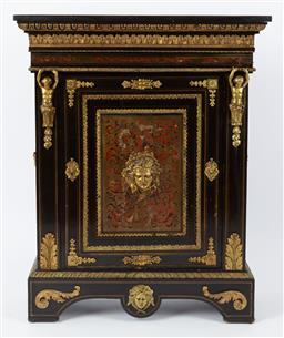 Sale 9135H - Lot 67 - A 19th Century Napoleon The III Gilt bronze mounted boulle marquetry Meoble DAppui. 97Cm Width, 33Cm Depth, 1.04M Height