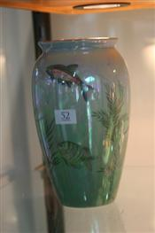 Sale 7874 - Lot 52 - Royal Winton Lustre Vase Decorated with Underwater Scene (159)