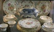 Sale 7876 - Lot 81 - Hammersley Dresden Sprays Part Dinner Set & Johnson Bros Old Britain Castles Tureen