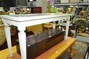 Sale 8093 - Lot 1422 - Marble Inlaid Occasional Table