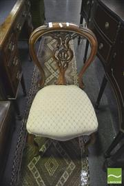 Sale 8352 - Lot 1033 - Victorian Carved Balloon Back Chair