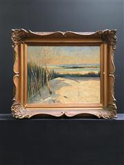 Sale 8429A - Lot 2001 - Artist Unknown (XX) Canadian Winter Scene, oil on canvas, 30 x 37.5cm , signed lower left