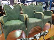 Sale 8495F - Lot 1040 - Set of 3 Wicker Chairs