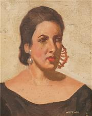 Sale 8583A - Lot 5016 - William Tootill 	(? - 2009) - La Señora 24 x 19cm