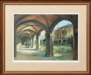 Sale 8653A - Lot 17 - Kenneth Jack - The Quadrangle 27 x 38cm
