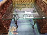 Sale 8657 - Lot 1097 - Glass Top Side Table
