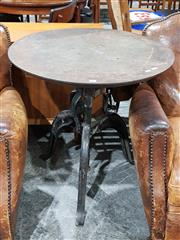 Sale 8765 - Lot 1085 - Cast Iron Industrial Table