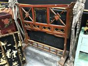 Sale 8854 - Lot 1007 - A redwood chinese stand, Height 140cm x Length 180cm