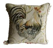 Sale 8888H - Lot 64 - A vintage French needle point tapestry cushion with rooster design approx.. 50 x 50 cm