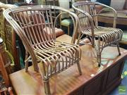 Sale 8495F - Lot 1045 - Pair of Cane Childrens Chairs