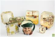 Sale 8543 - Lot 84 - Group Of Doulton Ceramics Incl Plates And A Character Jug