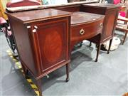 Sale 8676 - Lot 1024 - Inlaid Timber Sideboard with Two Doors & Single Drawer