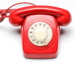 Sale 9168 - Lot 72 - A red dial telephone
