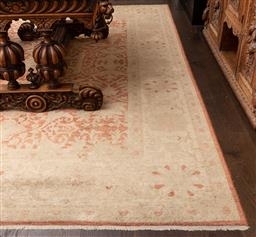 Sale 9160H - Lot 208 - An Afghan rug in red and cream, with geometric foliage design, 306cm x 248cm
