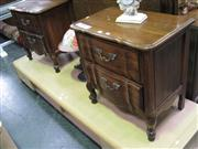 Sale 7932A - Lot 1152 - Pair of Bedside Cabinets with Bed Head