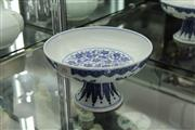 Sale 8311 - Lot 26 - Footed Blue & White Dish