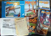 Sale 8376 - Lot 32 - Vintage Meccano Magazines, Leaflets, Pricelists, and Instructions, plus Book; 1 x 1935, vol XX, No 3. 6 x 1942, vol XXVII, No.s 1-6....