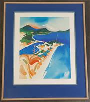 Sale 8973 - Lot 2071 - Helen Wittshire Mirage offset lithograph ed. 264/500 73 x 62cm (frame)