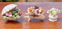 Sale 9099 - Lot 253 - Three pieces of ceramic floral bouquets including Royal Adderley, Royal Albert and coalport