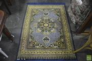 Sale 8323 - Lot 1092 - Blue And Yellow Floor Rug With Floral Medallion (164 x 114)