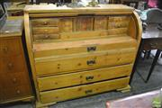 Sale 8386 - Lot 1002 - Pine Cylinder Desk