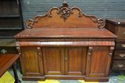 Sale 8500 - Lot 1094 - Late 19th Century Cedar Sideboard, with carved back
