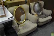 Sale 8566 - Lot 1631 - Pair of Restorable Armchairs