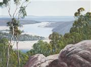 Sale 8791 - Lot 517 - Leonard Long (1911 - 2013) - Shoalhaven from the Pulpit, Bamarang NSW, 1993 44 x 59.5cm