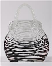 Sale 9003 - Lot 15 - Handbag form art glass vase (H29.5cm)