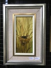 Sale 9072 - Lot 2027 - Sua Nagel Reed Warbler Nesting, oil on board, frame: 33 x 23 cm, signed lower right -