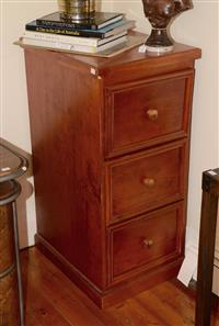 Sale 8171A - Lot 51 - A timber filing cabinet, H 107, W 50, D 62cm
