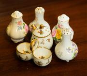 Sale 8418A - Lot 44 - A small group of porcelain cruet wares including Limoges and others
