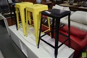 Sale 8532 - Lot 1334 - Two Pairs of Metal Bar Stools