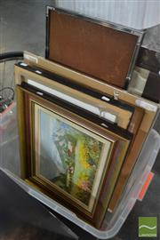Sale 8548 - Lot 2122 - Group of 11 Assorted Artworks by Various Artists inc Original Oils on Canvas and Acrylics in Various Frames and Sizes