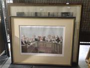 Sale 8767 - Lot 2067 - 2 Works: Spy Vanity Fair Caricature Heads of the Law 1902 & WH Boucher - The Plaintiff and the Defendant, etching -
