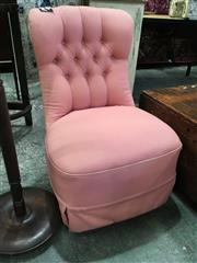 Sale 8782 - Lot 1716 - Upholstered Bedroom Chair in Pink