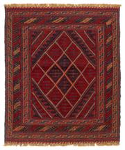 Sale 8790C - Lot 181 - A Persian Meshvani Village Rug, Wool On Cotton Foundation Classed As Tribal Sumak, 114 x 105cm