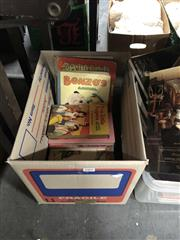 Sale 8797 - Lot 2404 - Box of Childrens Books incl Bradley Bonzos Annual Dean & Son Ltd & Mrs Hippos Annual 1936 Gordon & Gotch