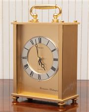 Sale 8881H - Lot 42 - A Seiko quartz mantle clock with Westminster chimes. Total height 23cm