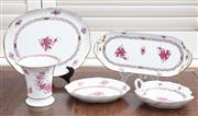 Sale 9081H - Lot 29 - A collection of Herende cake platters and a vase in the