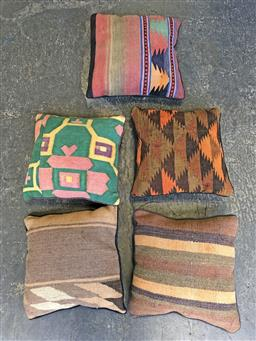 Sale 9108 - Lot 1065 - Five pieces knotted woollen persian kilim cushions