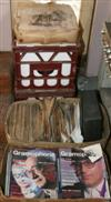 Sale 7670A - Lot 637 - Box of The Gramophone Magazine plus two crates and one box of 78rpm records and a further box lot of the record sollector magazine